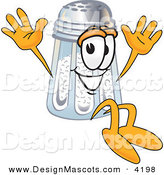 Stock Vector Mascot Cartoon of a Cute Salt Shaker Mascot Cartoon Character Jumping by Toons4Biz
