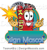 Stock Vector Mascot Cartoon of a Dynamite Mascot Label by Toons4Biz