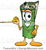 Stock Vector Mascot Cartoon of a Green Carpet Holding a Pointer Stick by Toons4Biz