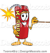 Stock Vector Mascot Cartoon of a Pointing Dynamite Mascot by Toons4Biz