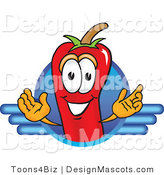 Stock Vector Mascot Cartoon of a Red Chili Pepper Logo by Toons4Biz