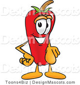 Stock Vector Mascot Cartoon of a Red Chili Pepper Pointing at the Viewer by Toons4Biz