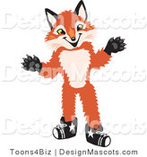 Stock Vector Mascot Cartoon of a Red Fox by Toons4Biz