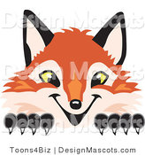 Stock Vector Mascot Cartoon of a Red Fox Peeking by Toons4Biz