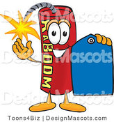Stock Vector Mascot Cartoon of a Sales Dynamite Mascot by Toons4Biz