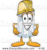 Stock Vector Mascot Cartoon of a Salt Shaker Mascot Cartoon Character Wearing a Construction Helmet by Toons4Biz