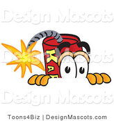 Stock Vector Mascot Cartoon of a Scared Dynamite Mascot by Toons4Biz
