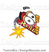 Stock Vector Mascot Cartoon of a Spying Dynamite Mascot by Toons4Biz