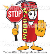 Stock Vector Mascot Cartoon of a Stop Dynamite Mascot by Toons4Biz