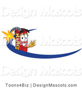 Stock Vector Mascot Cartoon of a Wave and Dynamite Mascot by Toons4Biz