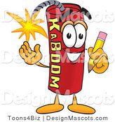 Stock Vector Mascot Cartoon of a Writing Dynamite Mascot by Toons4Biz