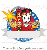 Stock Vector Mascot Cartoon of an American Dynamite Mascot by Toons4Biz