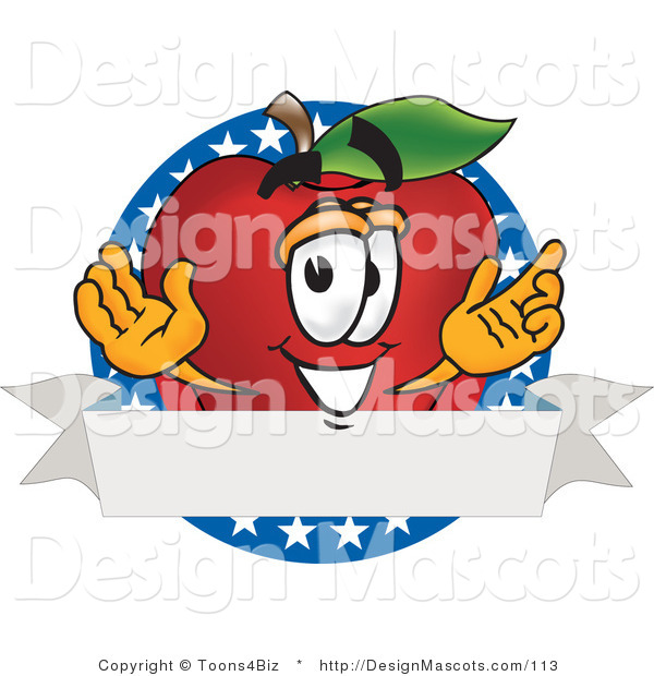 Clipart of a Apple - Royalty Free