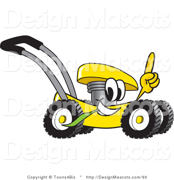 Clipart of a Lawn Mower - Royalty Free