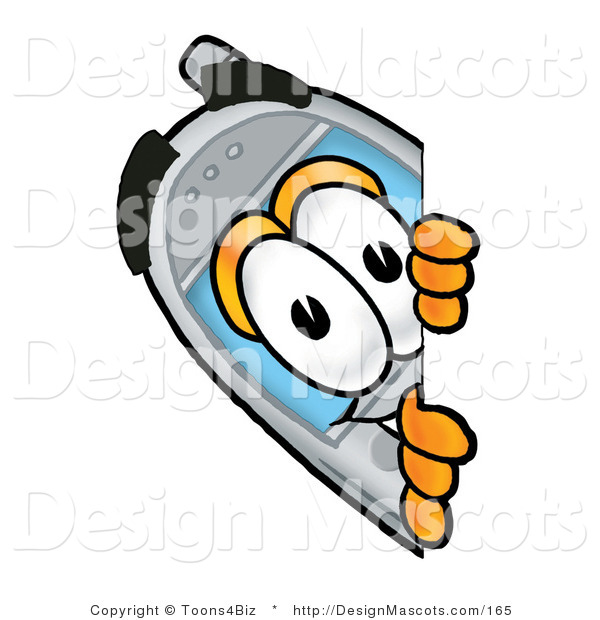 Clipart of a Telephone - Royalty Free