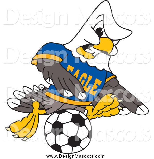 Illustration of a Bald Eagle Soccer Player