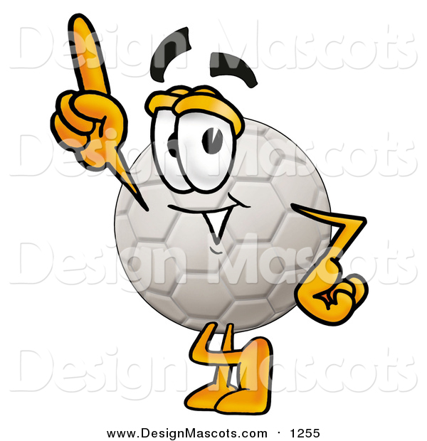 Illustration of a Soccer Ball Mascot with an Idea