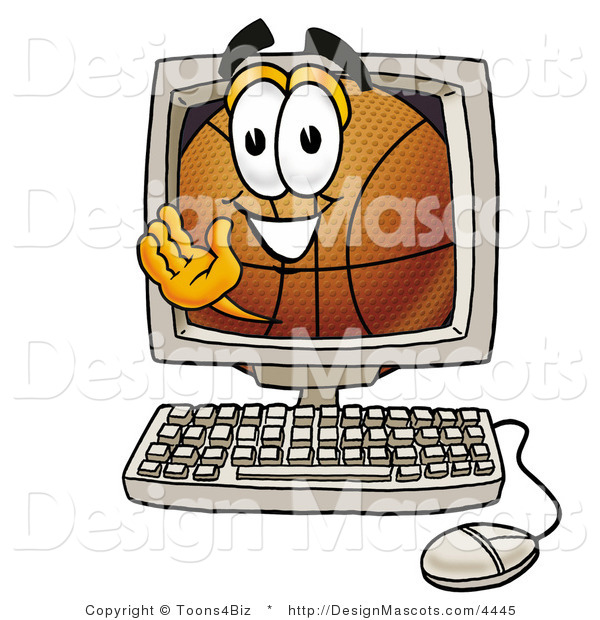 Stock Mascot Cartoon of a Basketball Mascot Online