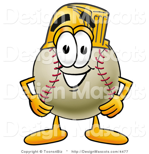Stock Vector Mascot Cartoon of a Baseball Mascot Wearing a Helmet