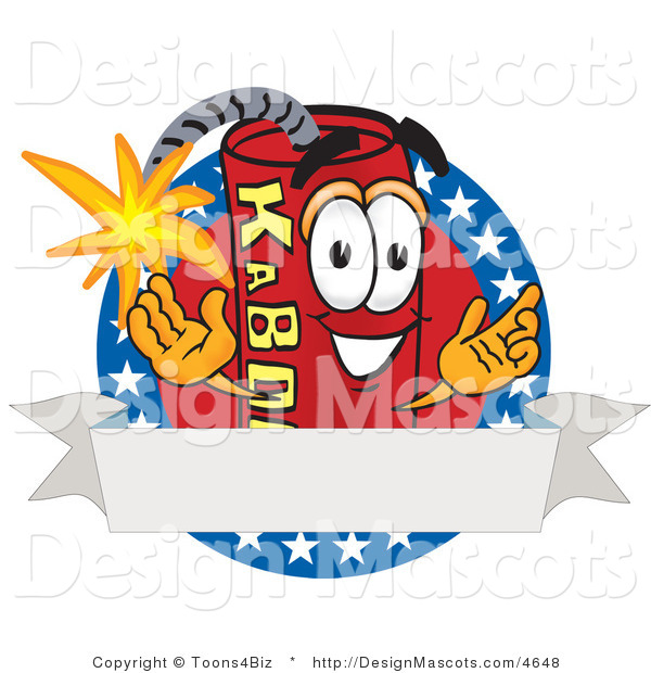 Stock Vector Mascot Cartoon of an American Dynamite Mascot