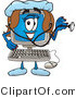 Clipart of a Computer - Royalty Free by Toons4Biz