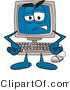 Clipart of a Frustrated Desktop - Royalty Free by Toons4Biz
