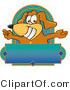 Clipart of ABrown Dog Mascot Cartoon Character with Open Arms - Royalty Free by Toons4Biz