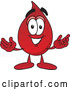 Illustration of a Blood Drop Mascot Cartoon with Welcoming Open Arms by Toons4Biz