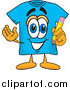 Illustration of a Blue T-Shirt Mascot Holding a Pencil by Toons4Biz