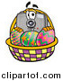 Illustration of a Camera Mascot and an Easter Basket by Toons4Biz