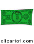 Illustration of a Camera Mascot Dollar Bill by Toons4Biz
