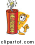 Illustration of a Cheese Mascot with a Stick of Dynamite by Toons4Biz