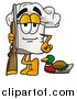 Illustration of a Chefs Hat Mascot Duck Hunter with a Rifle and Decoy by Toons4Biz