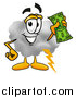 Illustration of a Cloud Mascot Holding a Dollar Bill by Toons4Biz