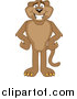 Illustration of a Cougar Mascot Standing with His Hands on His Hips by Toons4Biz