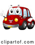 Illustration of a Happy Red Car Mascot Holding a Thumb up and Smiling by BNP Design Studio