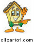 Illustration of a House Mascot Waving and Pointing by Toons4Biz