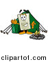 Illustration of a Light Switch Mascot Camping with a Tent and Fire by Toons4Biz