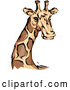 Illustration of a Majestic Giraffe Mascot by BNP Design Studio