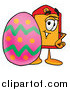 Illustration of a Price Tag Mascot and Easter Egg by Toons4Biz