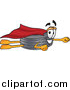 Illustration of a Rubber Tire Mascot Super Hero Flying by Toons4Biz