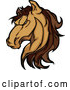 Illustration of a Strong Mustang Horse Head Mascot by Chromaco
