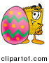 Illustration of a Ticket Mascot with an Easter Egg by Toons4Biz