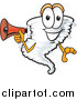 Illustration of a Tornado Mascot Using a Megaphone by Toons4Biz
