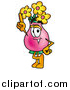 Illustration of a Vase of Flowers Mascot Holding up a Finger by Toons4Biz