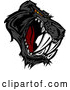 Illustration of an Aggressive Black Saber Toothed Panther Mascot by Chromaco