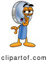 Stock Cartoon of a Whispering Magnifying Glass Mascot by Toons4Biz