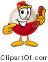 Stock Mascot Cartoon of a Cute Fishing Bobber Mascot Cartoon Character Holding a Telephone by Toons4Biz