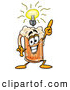 Stock Mascot Cartoon of a Delicious Beer Mug Mascot Cartoon Character with a Bright Idea by Toons4Biz