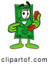 Stock Mascot Cartoon of a Dollar Bill Mascot Holding a Telephone by Toons4Biz